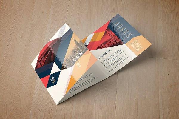 vintage square trifold brochure