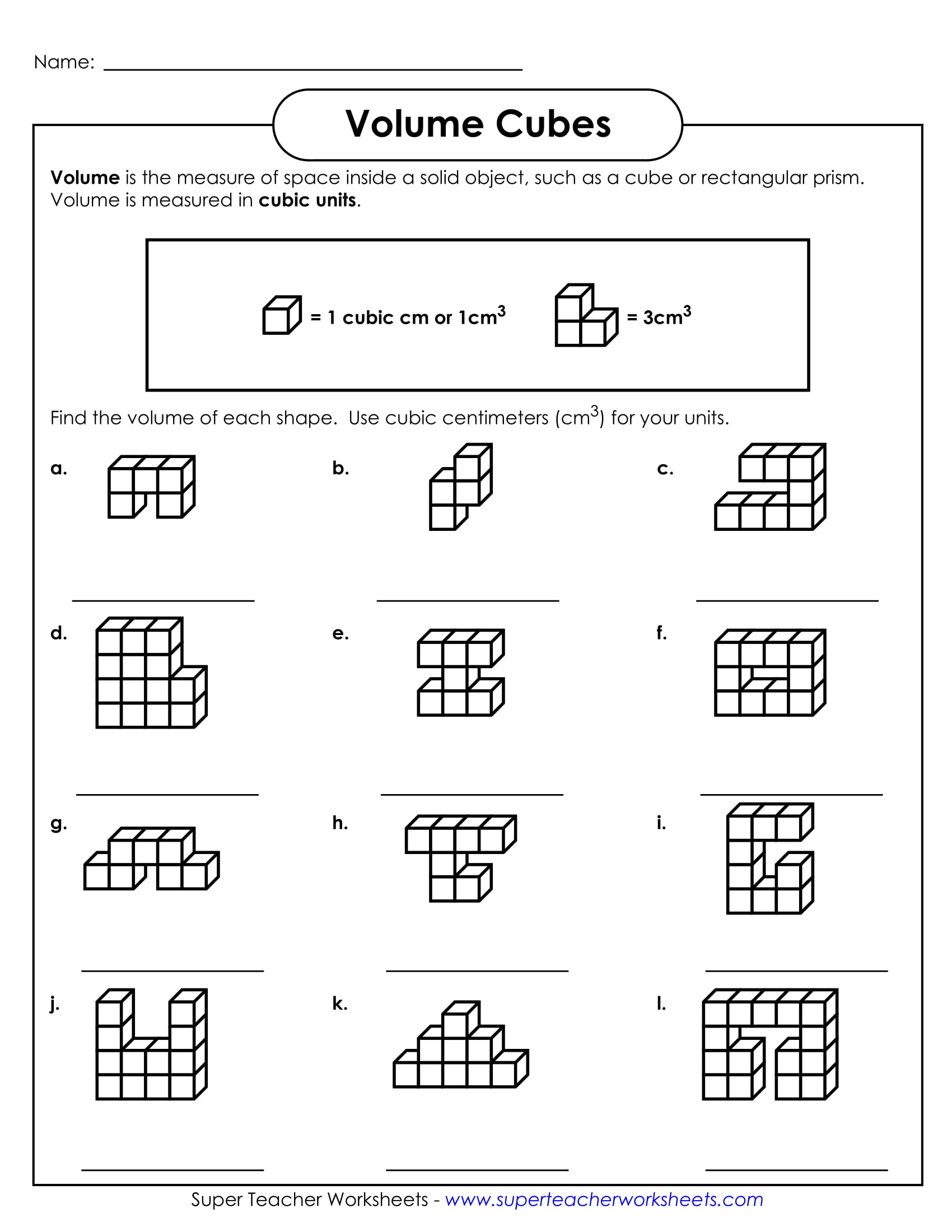 Worksheets Volume Cubes Worksheet 9 geometry worksheet examples for students pdf volume cubes sample example