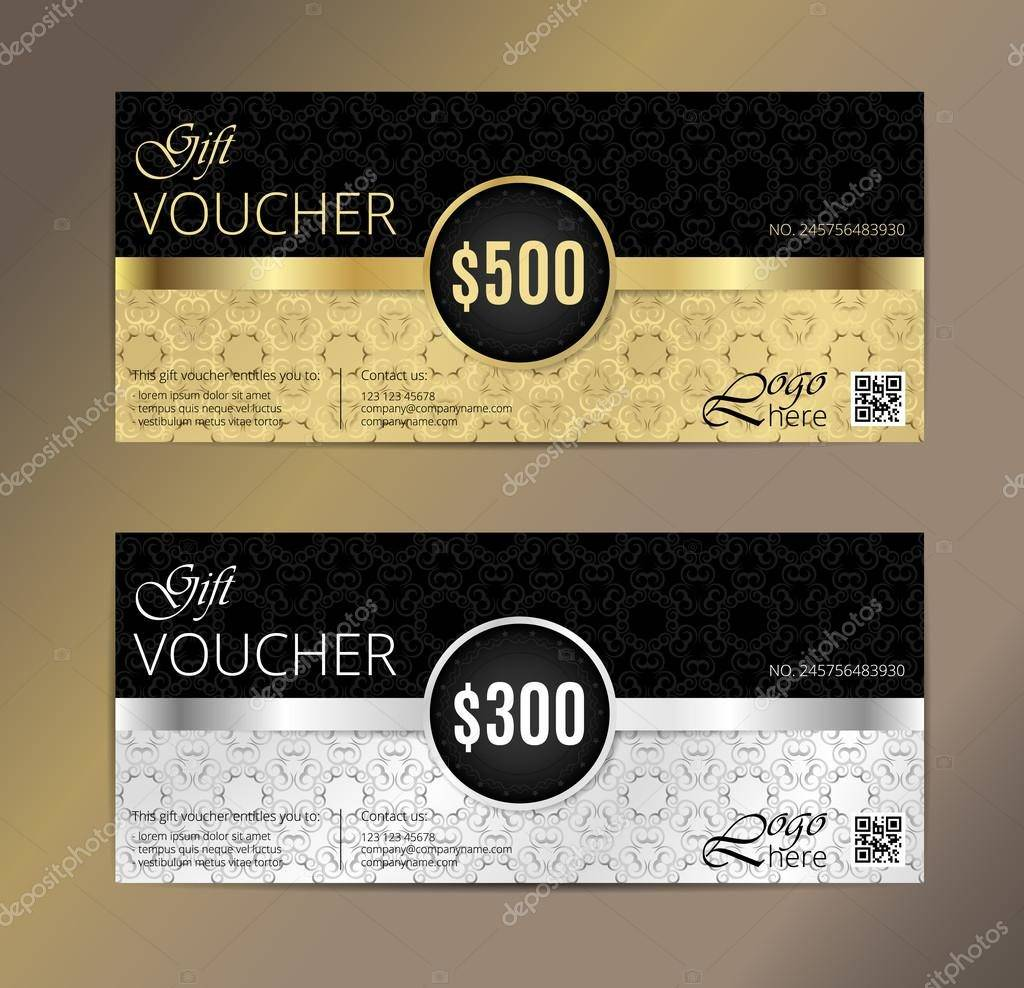 voucher gift certificate coupon template design