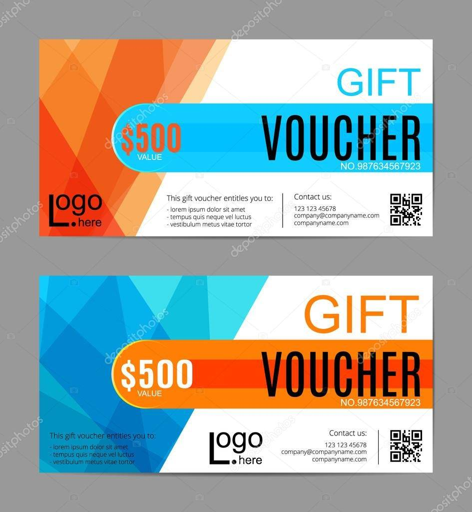 voucher gift certificate coupon template