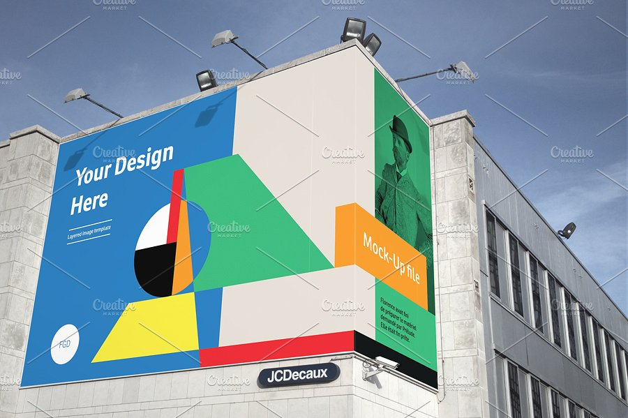wallscape outdoor billboard example