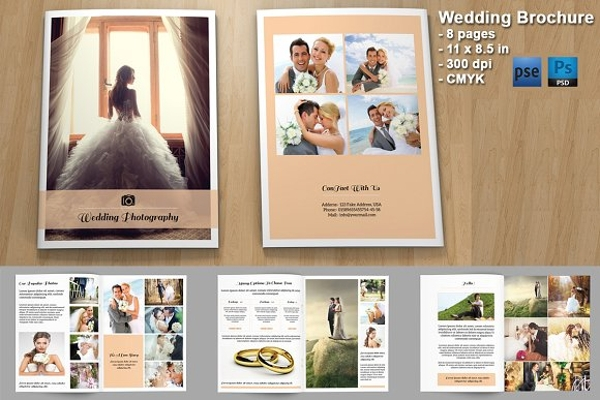 wedding photography bifold brochure