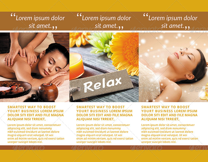 wellness and spa center sample tri fold brochure example