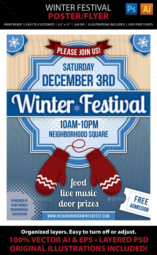winter festival brochure cover