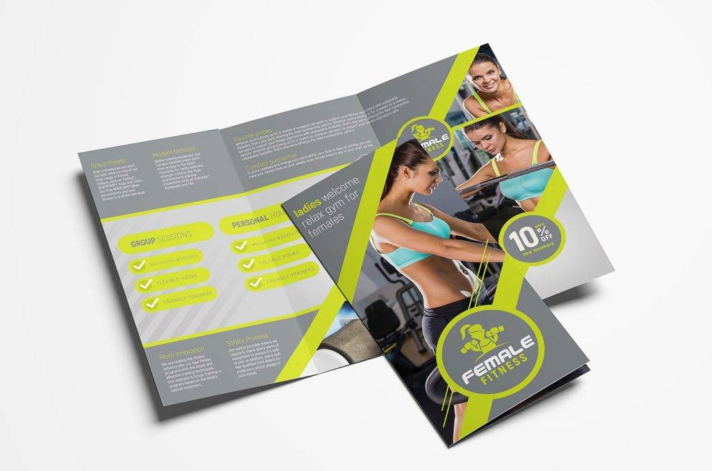 womens health and fitness sample brochure