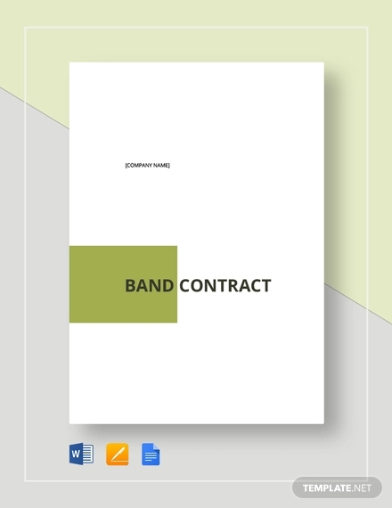 band contract
