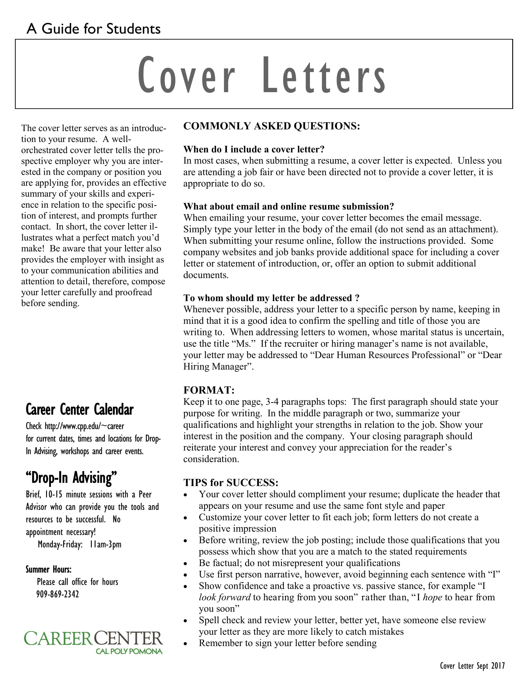 cover letters 1