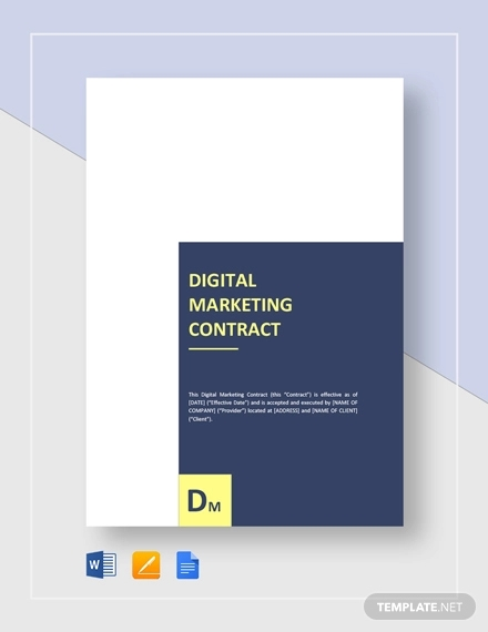 digital marketing contract
