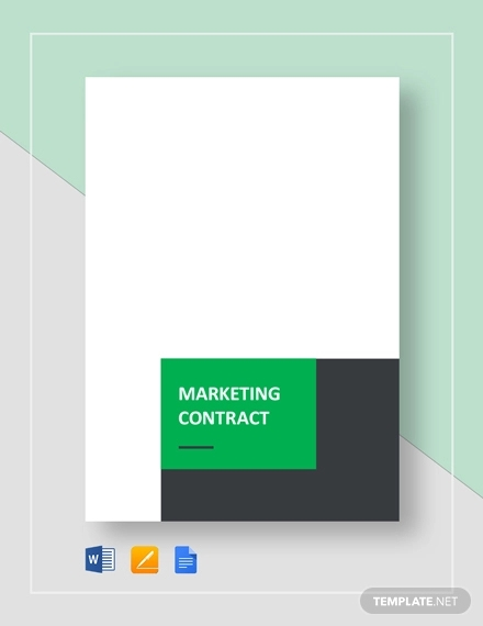 marketing contract