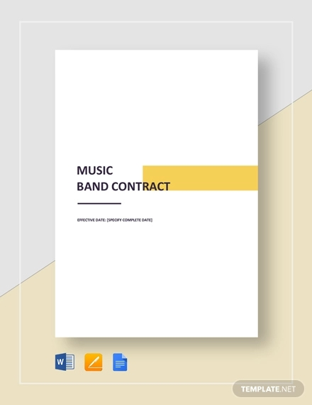 9+ Band Contract Examples - PDF, Word, Google Docs | Examples