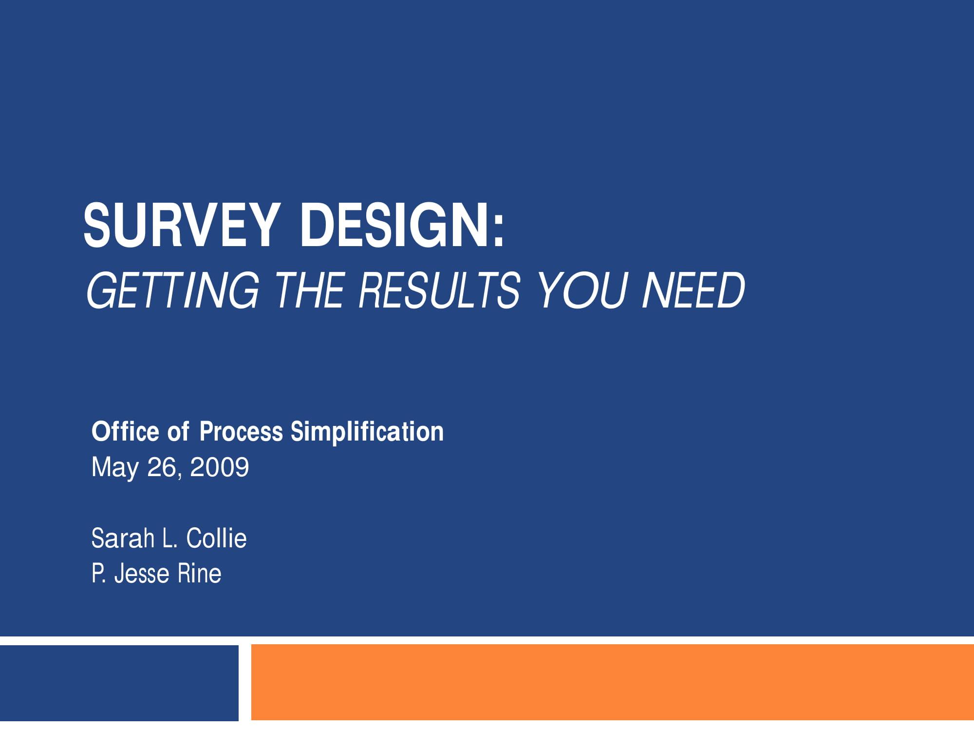 21 Survey Examples PDF