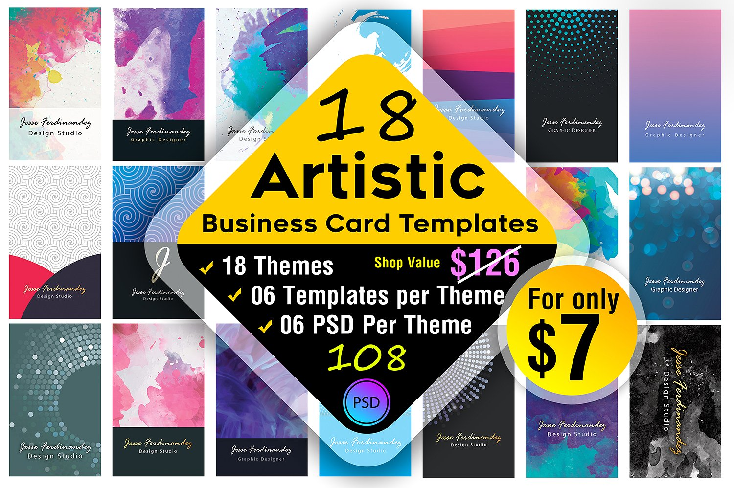 18 artistic business card bundle example
