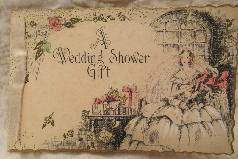 1940s vintage greeting gift card example