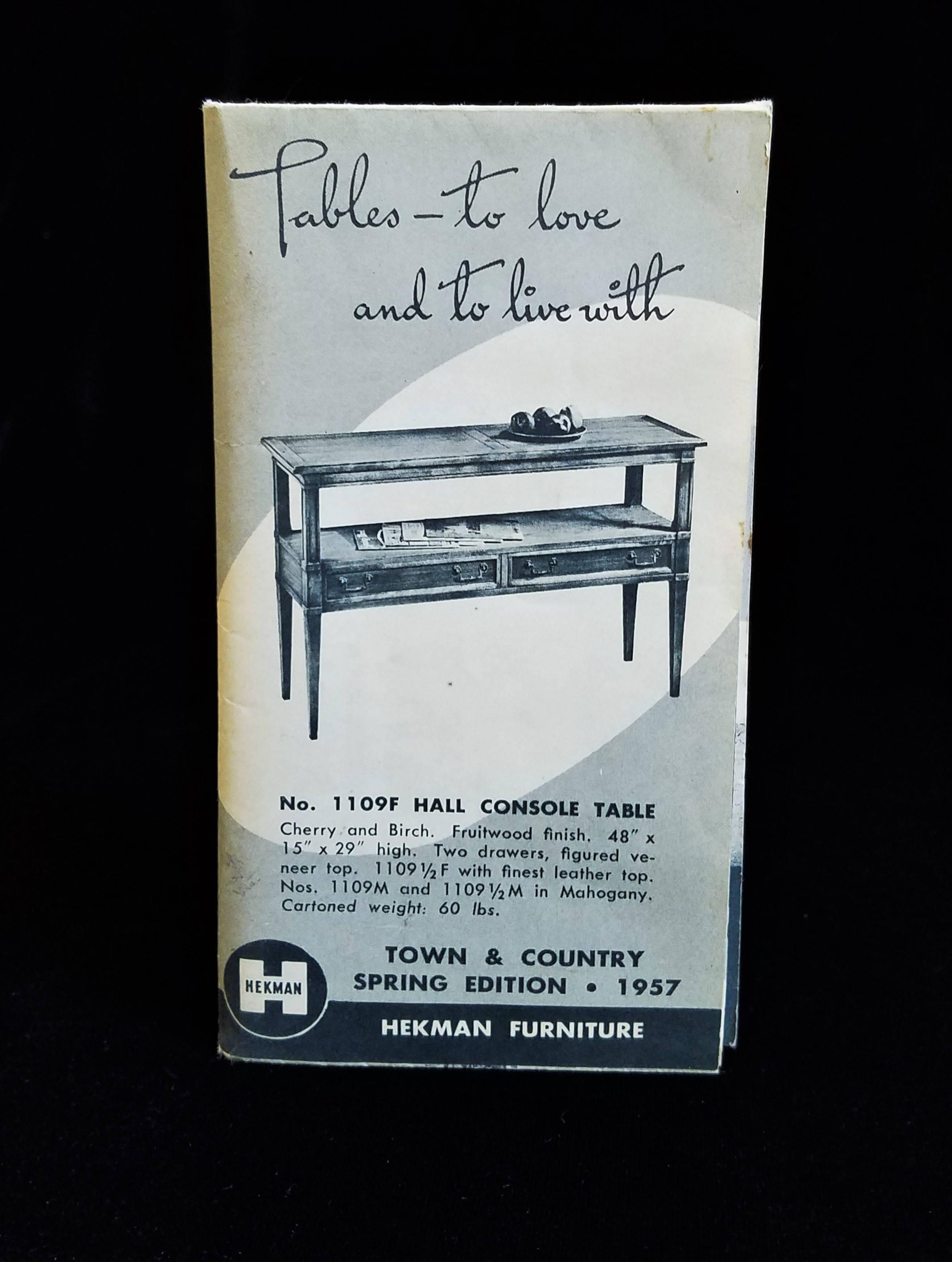1957 hekman furniture catalog example