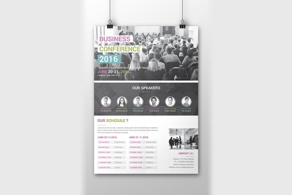 2016 business conference poster example