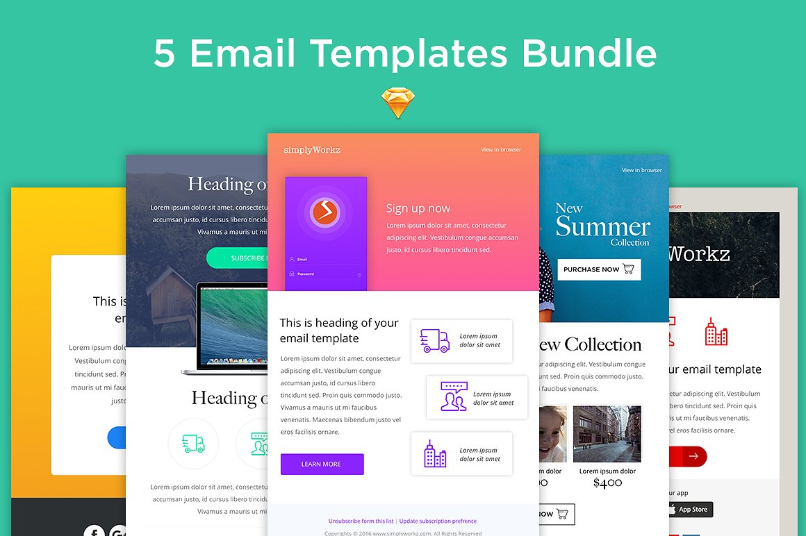 5 pack email invitation template example