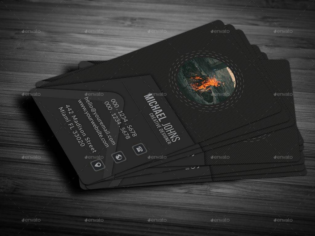 abstract design business card example