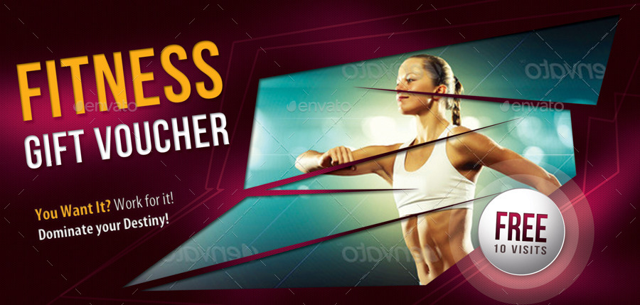 abstract fitness voucher example
