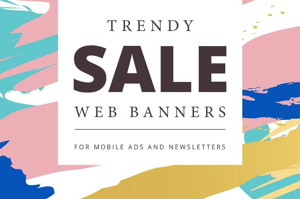 abstract mobile sale banner example