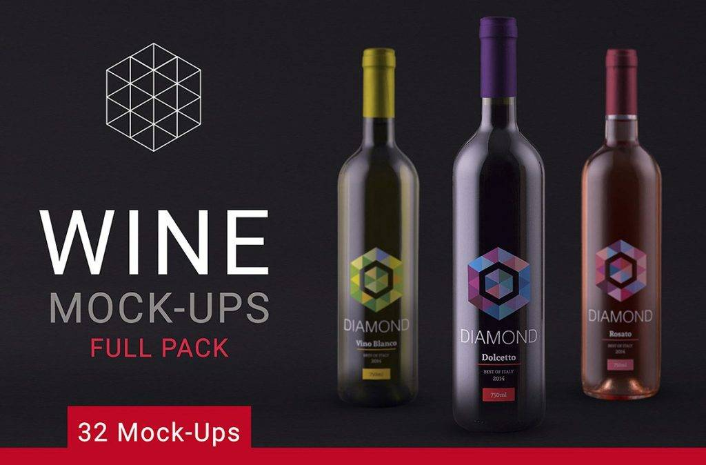 abstract wine bottle label design example