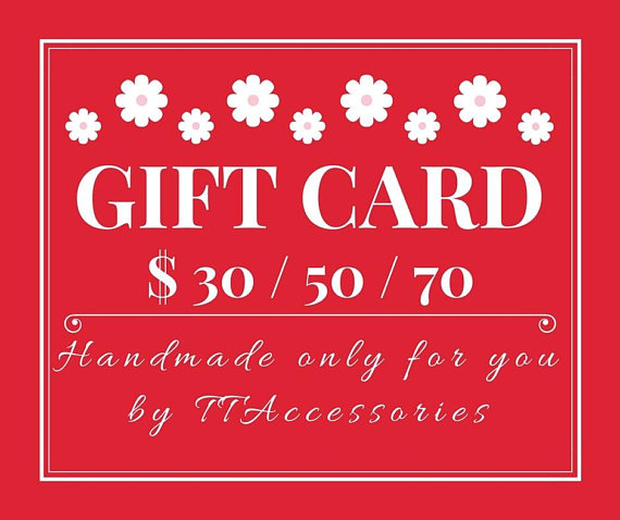 accessories bridal gift card example