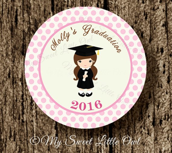 adorable graduation label example