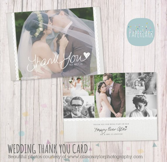 adorable wedding thank you card example