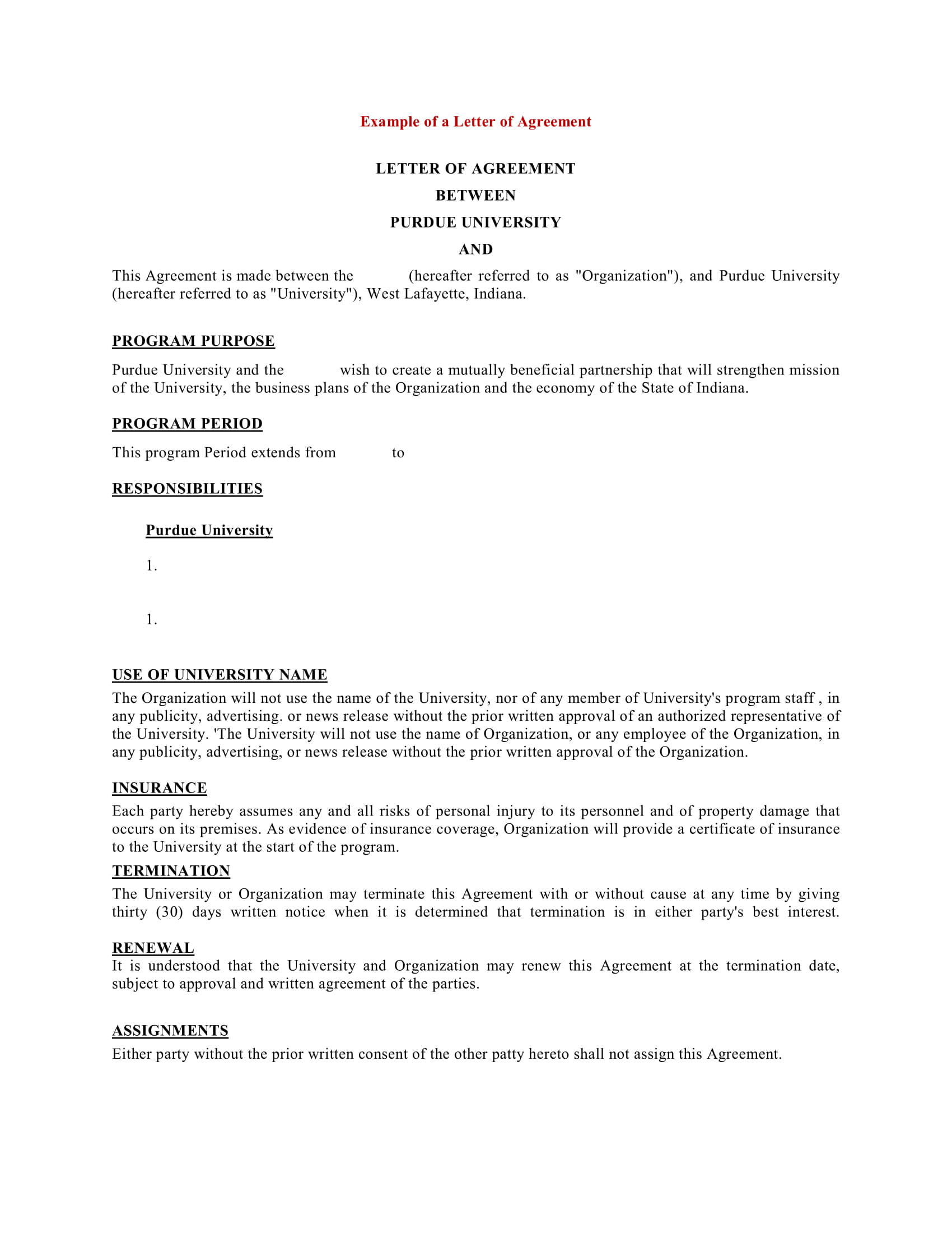 9+ Business Agreement Letter Examples   PDF, DOC | Examples