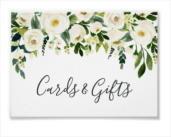 alabaster floral wedding cards gifts sign