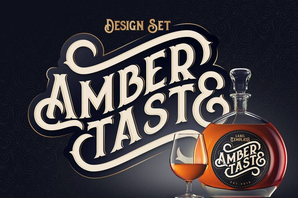 ambertastic wine bottle design example