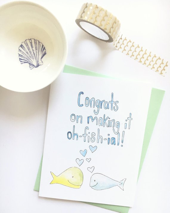 amusing bridal shower card example
