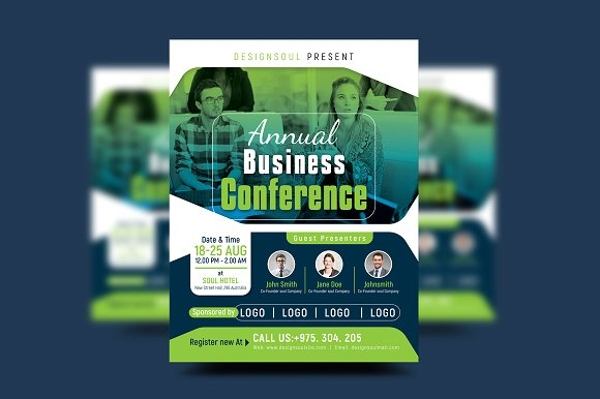 annual business conference poster example