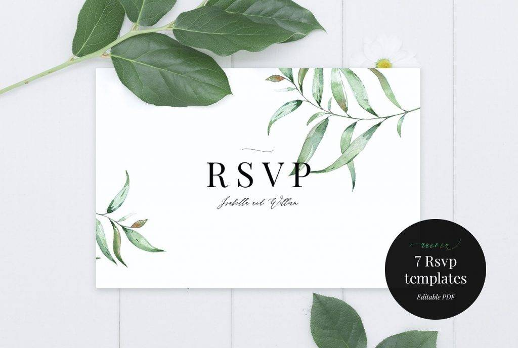 apple blossom wedding rsvp example