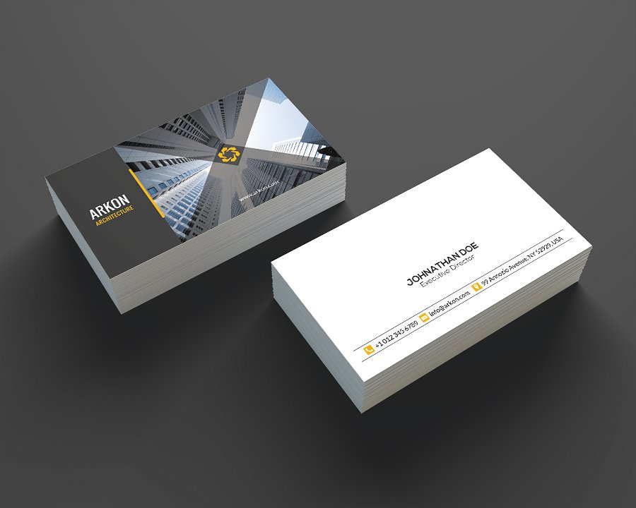 architecture business card example