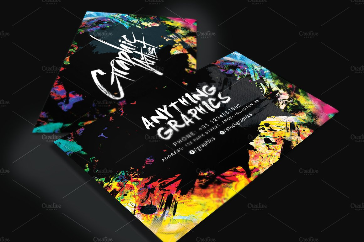 14 artist business card designs and examples psd ai artistic artist business card example reheart Choice Image