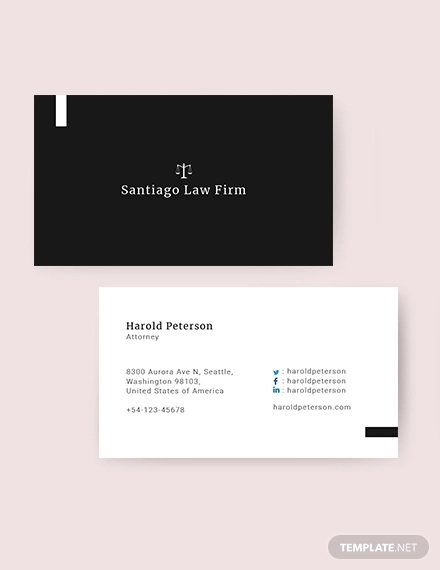 16+ Lawyer Business Cards - PSD, AI, Ms Word Examples