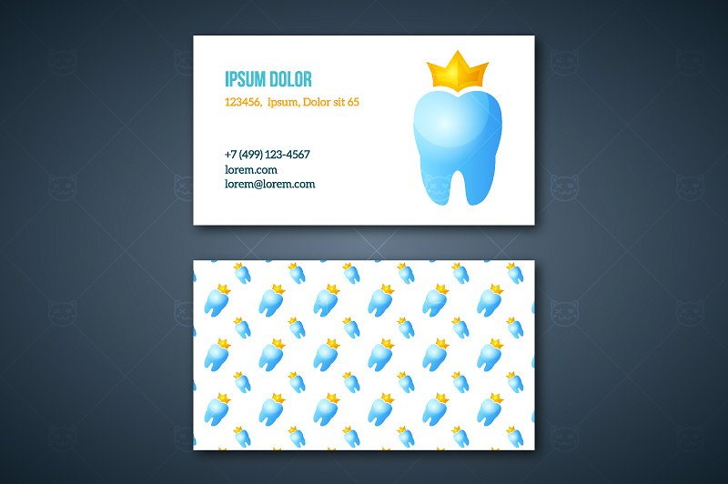 attractive dentists business card example