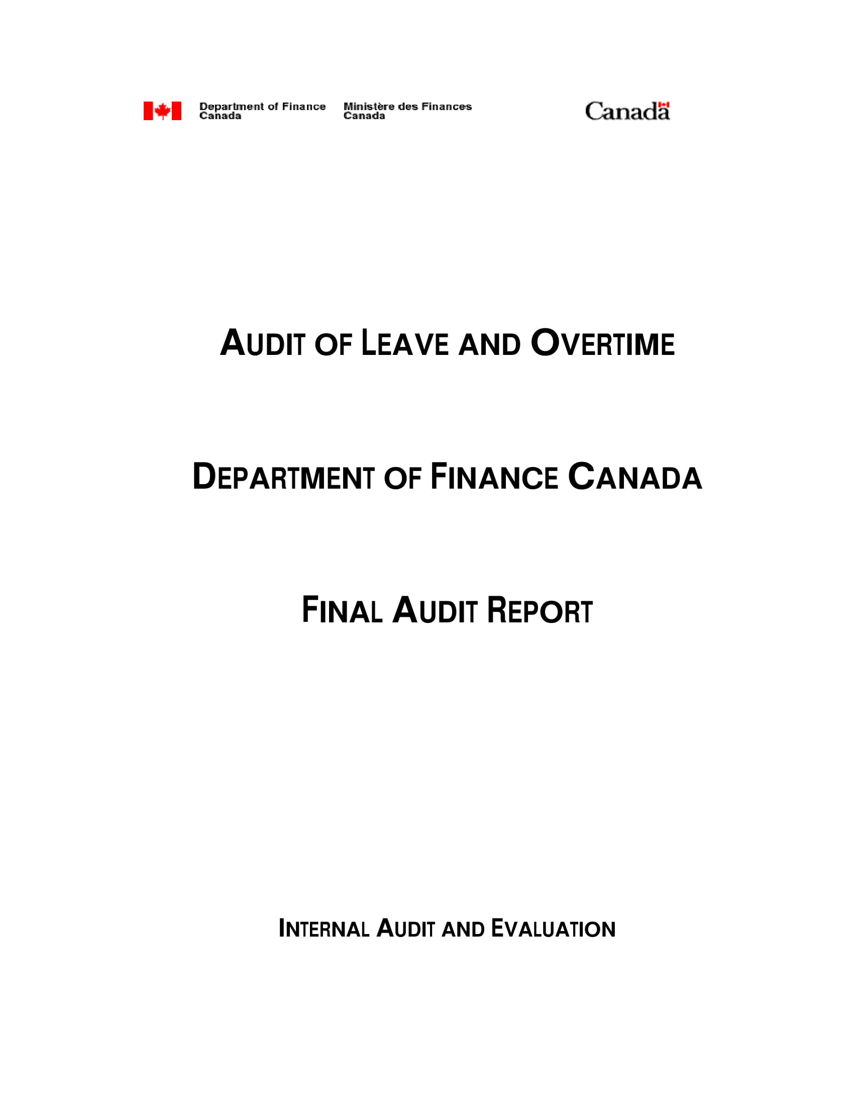 audit of leave and overtime report example