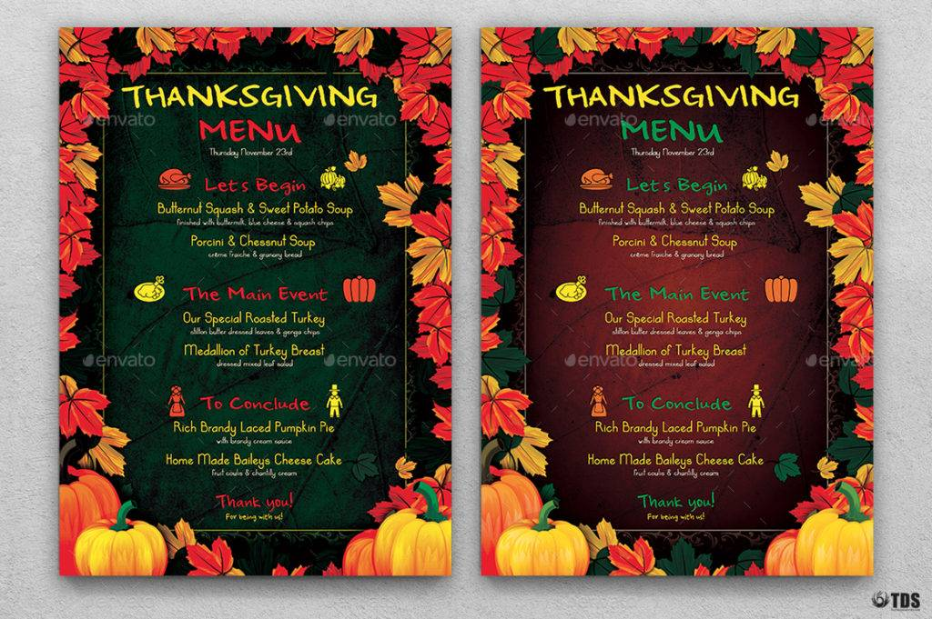autumn thanksgiving party menu example