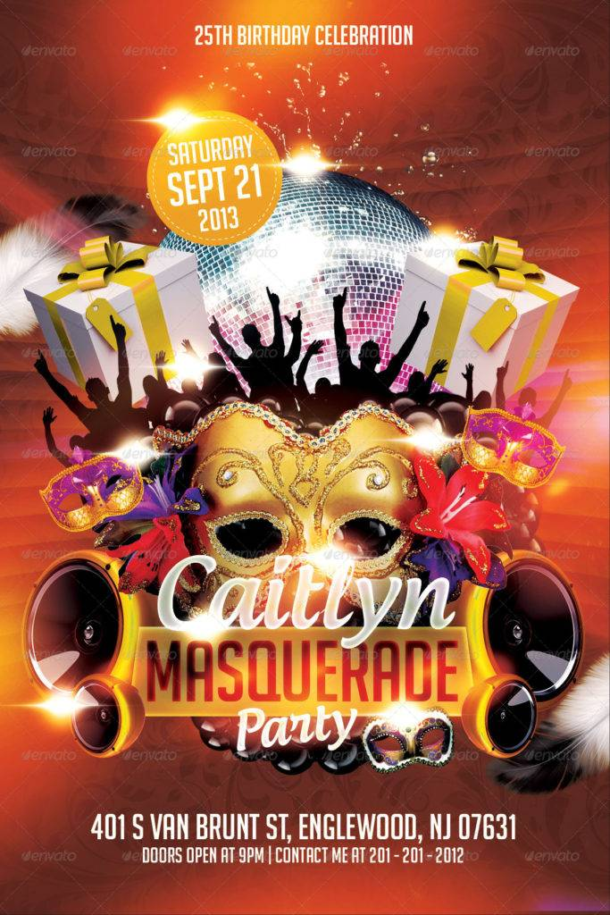 awesome masquerade invitation example