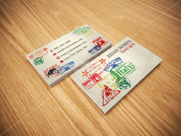 awesome travel agency business card