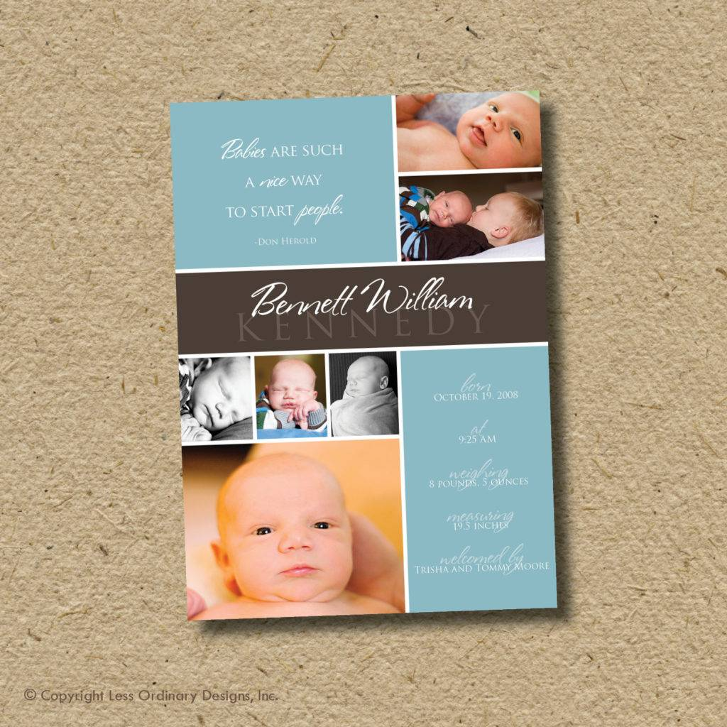 baby birth announcement photo card example1