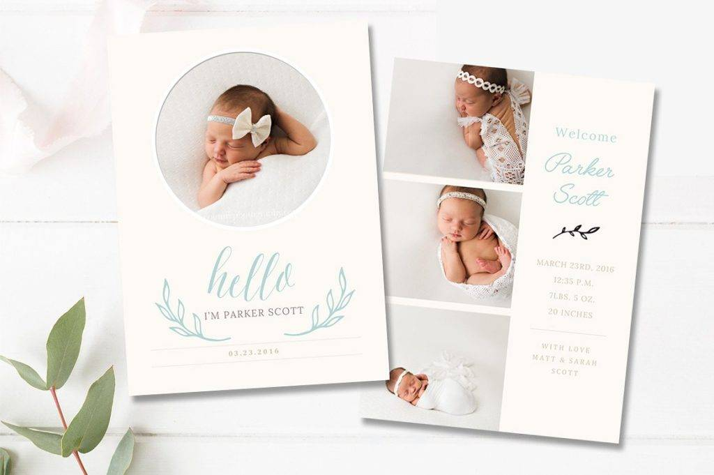 baby birth announcement template example