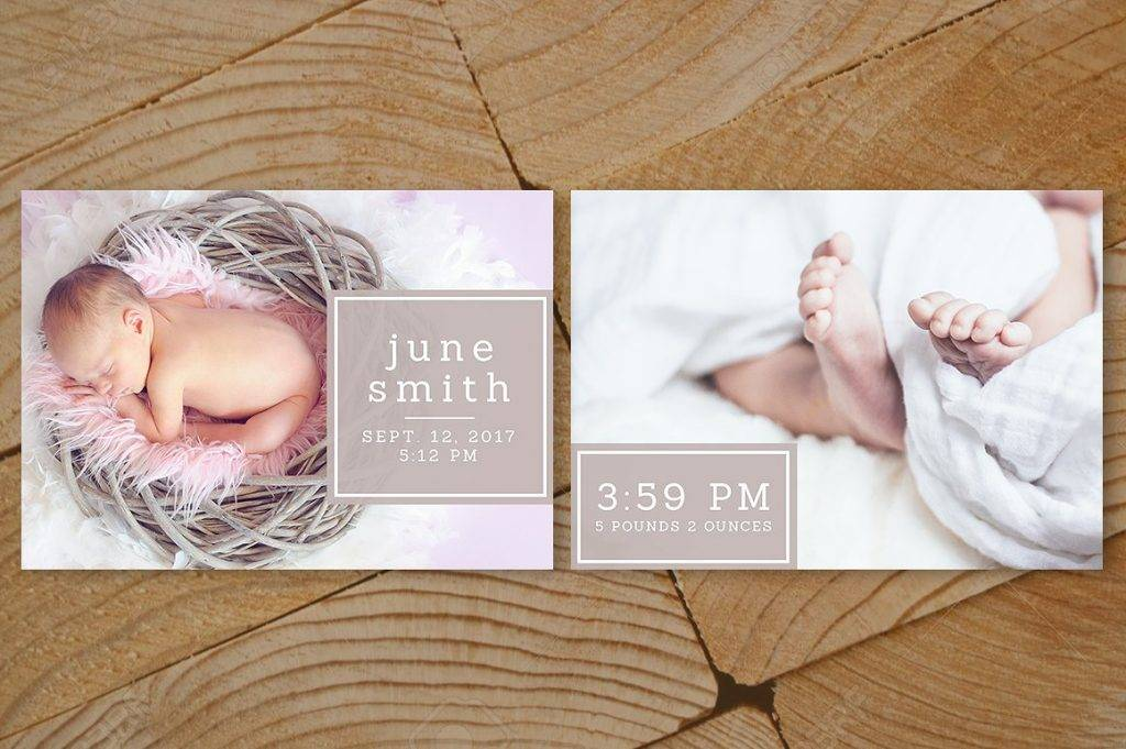 baby nest announcement card design example