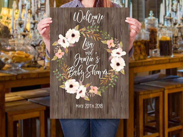 baby shower event announcement example