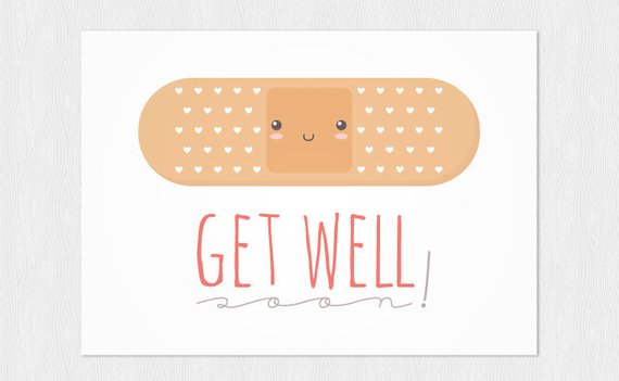 band aid get well greeting card example