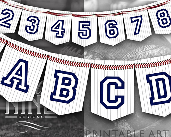baseball party banner example