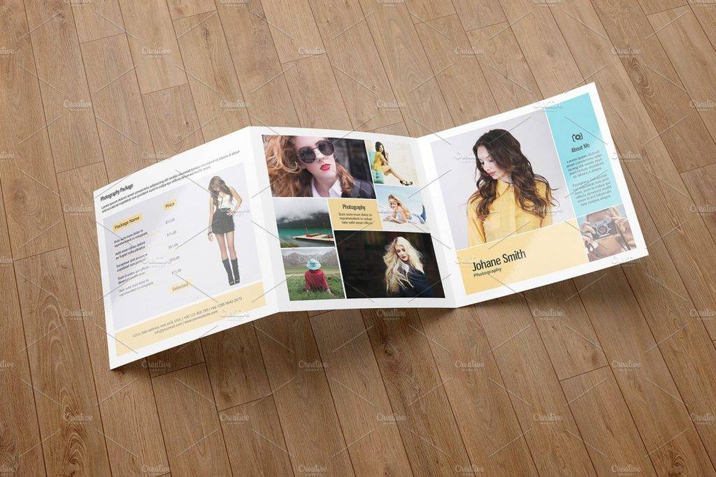 basic trifold photography brochure example