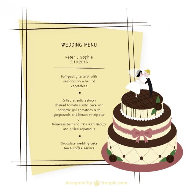 basic wedding menu example