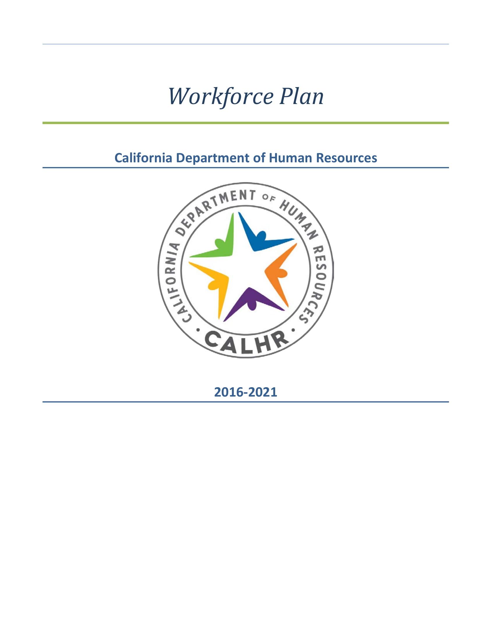 basic workforce plan template example